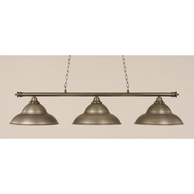 Passabe 3-Light Metal Billiard Light Finish: Brushed Nickel