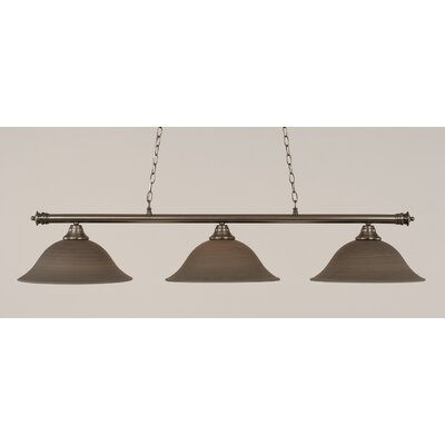 Oxford 3-Light Billiard Light Shade Color: Gray, Finish: Brushed Nickel