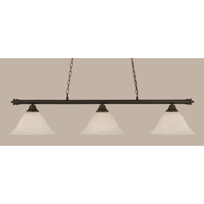 Passabe Traditional 3-Light Billiard Light Finish: Dark Granite
