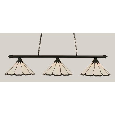 Oxford 3-Light Billiard Light Shade Color: Pearl, Finish: Matte Black
