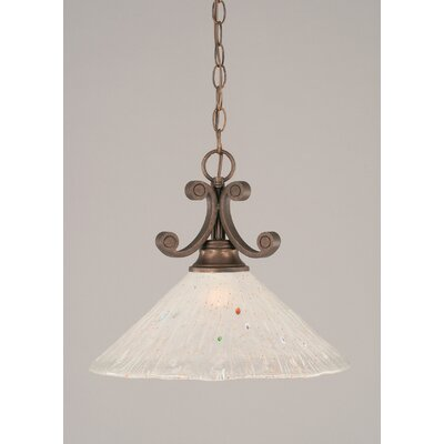 Babin 1-Light Mini Pendant Shade Color: Frosted
