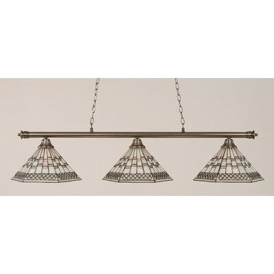 Passabe 3-Light 150W Billiard Light Finish: Brushed Nickel