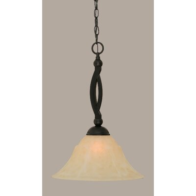 Blankenship Contemporary 1-Light 150W Mini Pendant Shade Color: Amber, Size: 20.25 H x 14 W