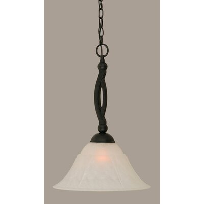 Blankenship Contemporary 1-Light 150W Mini Pendant Size: 20.25 H x 14 W, Shade Color: White