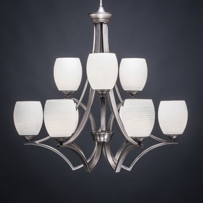 Zilo 9-Light Shaded Chandelier Finish: Graphite