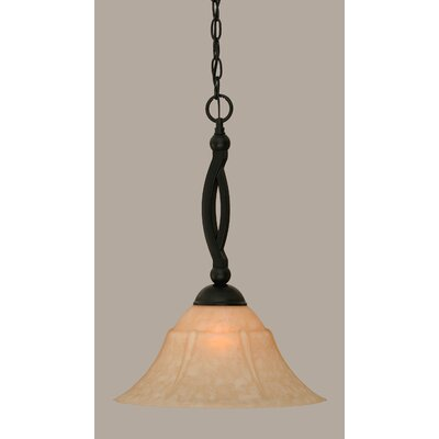 Blankenship 1-Light 150W Matte Black Mini Pendant Size: 20.25 H x 14 W