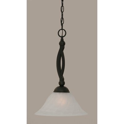 Blankenship 1-Light 150W Metal Mini Pendant Size: 18.75 H x 12 W