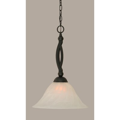 Bow 1-Light Mini Pendant Size: 20 H x 14 W