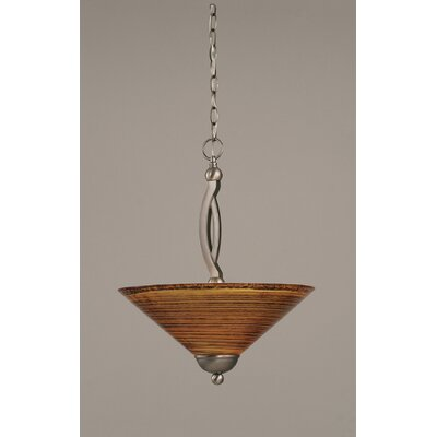 Blankenship 2-Light Metal Inverted Pendant Color: Brushed Nickel