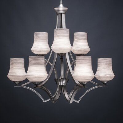 Zilo 9-Light Shaded Chandelier Shade Color: Gray