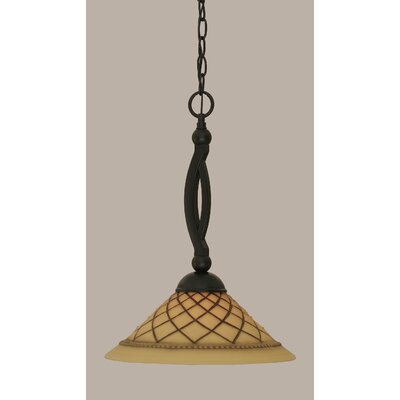 Bow 1-Light Mini Pendant Size: 18.5 H x 12 W
