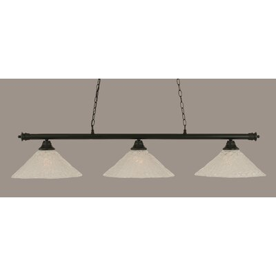 Oxford 3-Light Billiard Light Finish: Matte Black