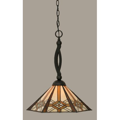 Essonnes 1-Light Glass Shade Mini Pendant
