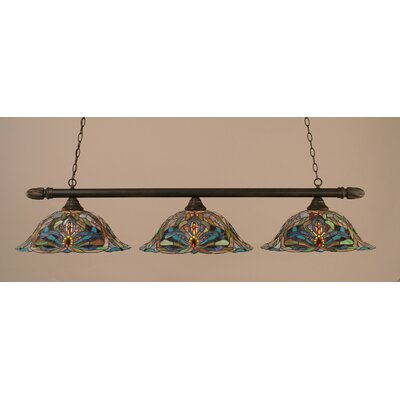 3-Light Pool Table Light Finish: Dark Granite