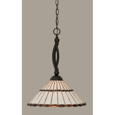 Austinburg 1-Light 150W Mini Pendant Shade Color: Honey and Amber