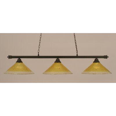 Oxford 3-Light Billiard Light Shade Color: Gold Champagne, Finish: Dark Granite