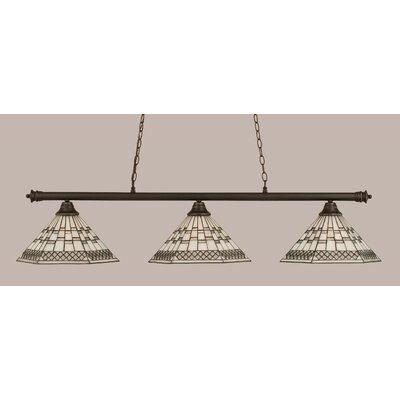 Passabe 3-Light 150W Billiard Light Finish: Dark Granite