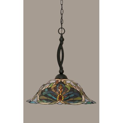 Bow 1-Light Mini Pendant Finish: Matte Black