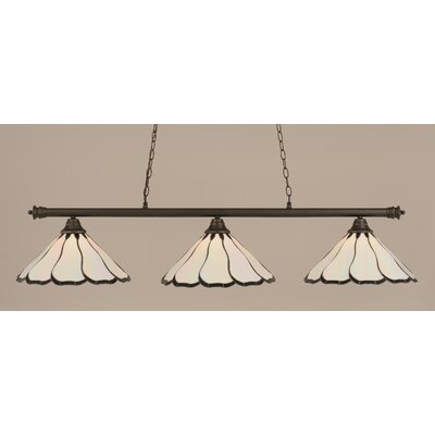 Oxford 3-Light Billiard Light Shade Color: Pearl, Finish: Dark Granite