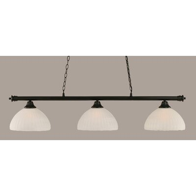 Passabe Modern 3-Light Billiard Light Finish: Matte Black
