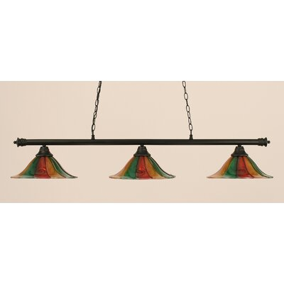 Oxford 3-Light Billiard Light Size: 10.25