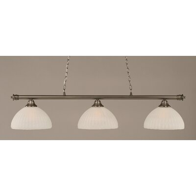 Passabe Modern 3-Light Billiard Light Finish: Brushed Nickel