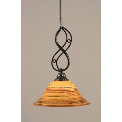 Jazz 1-Light Mini Pendant Size: 16.25 H x 10 W