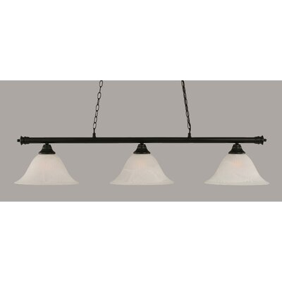 Passabe Traditional 3-Light Billiard Light Finish: Matte Black