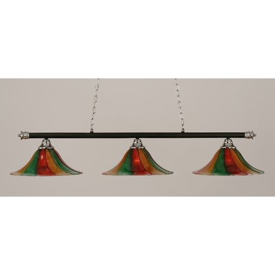 Oxford 3-Light Billiard Light Size: 11.25