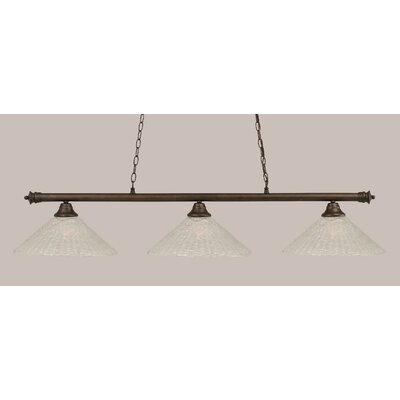 Oxford 3-Light Billiard Light Finish: Bronze