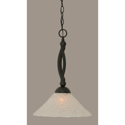 Bow 1-Light Mini Pendant Size: 19 H x 12 W