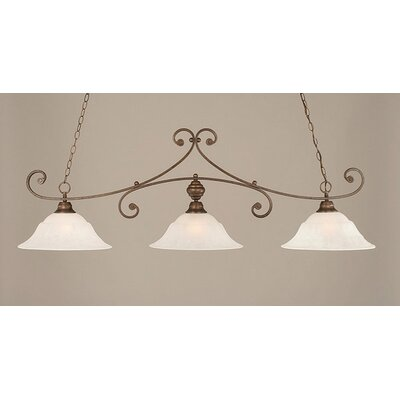Babin 3-Light Billiard Light Color: Bronze, Shade Color: White