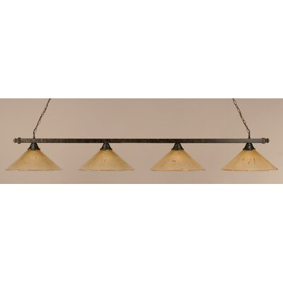 4-Light Pool Table Light Shade Color: Amber