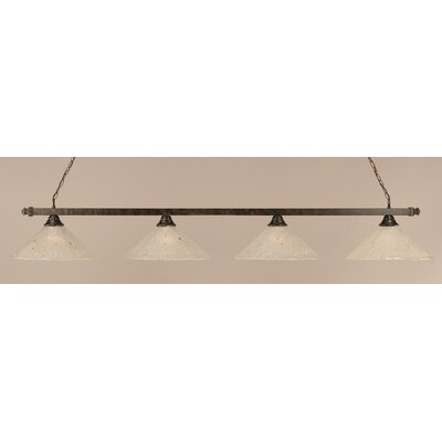 4-Light Square Kitchen Island Pendant Finish: Bronze