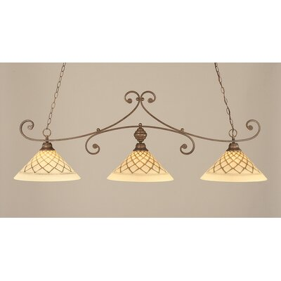Babin 3-Light Billiard Light Color: Bronze