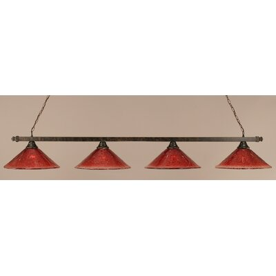 4-Light Pool Table Light Shade Color: Raspberry