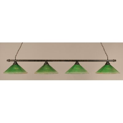 4-Light Pool Table Light Shade Color: Kiwi Green