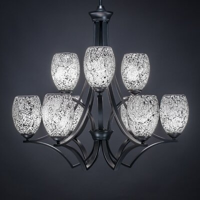 Zilo 9-Light Shaded Chandelier Shade Color: Black
