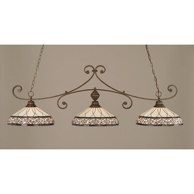 Copeland 3-Light Billiard Light Finish: Bronze