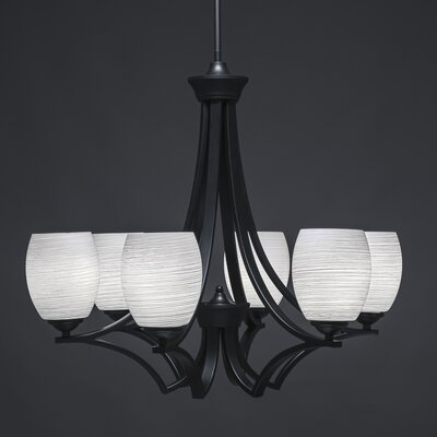 Zilo 6-Light Shaded Chandelier Shade Color: White