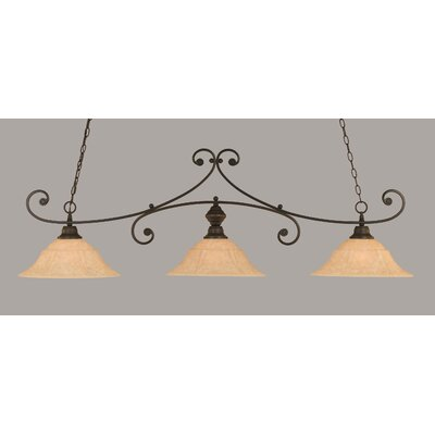 Babin 3-Light Billiard Light Finish: Dark Granite