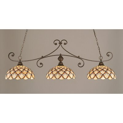 Copeland 3-Light Billiard Light Color: Bronze