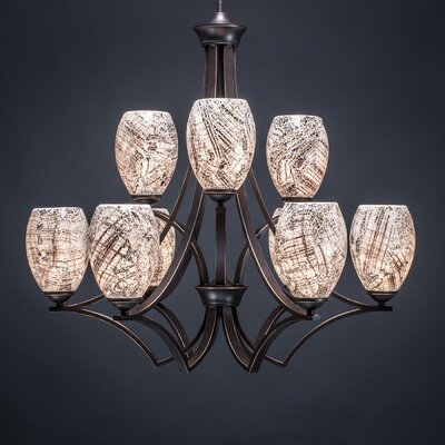 Zilo 9-Light Shaded Chandelier Shade Color: Natural