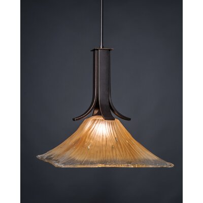 Blau 1-Light Mini Pendant Shade Color: Amber