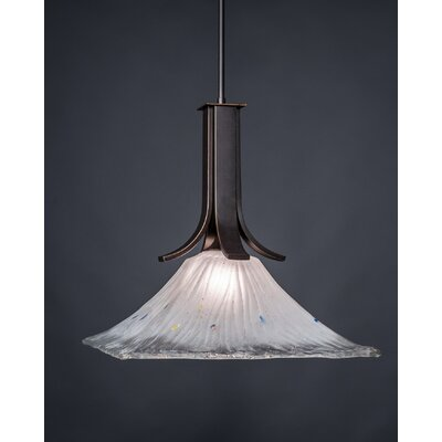 Apollo 1-Light Mini Pendant Shade Color: Frosted