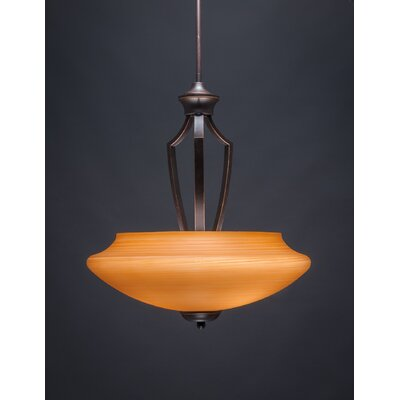 Zilo 3-Light Pendant Shade Color: Cayenne