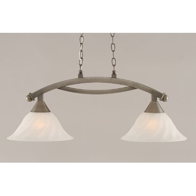 Blankenship 2-Light Steel Kitchen Island Pendant Finish: Brushed Nickel