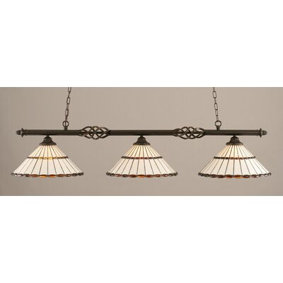Elegante 3-Light Billiard Light Shade Color: Honey and Amber Brown