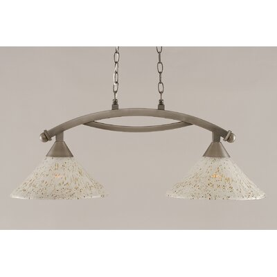 Blankenship 2-Light 100W Steel Kitchen Island Pendant Finish: Brushed Nickel