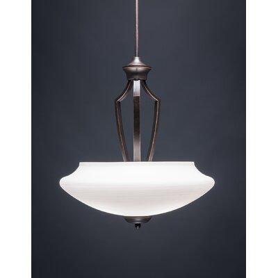 Zilo 3-Light Pendant Shade Color: White 567-DG-687